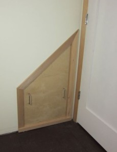 Below stairs access panel
